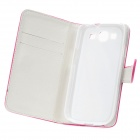 Protective Flip Open PU Leather Case Cover for Samsung Galaxy S3/I9300 - Deep Pink
