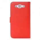 Protective Flip Open PU Leather Case Cover w/ Card Slots for Samsung Galaxy S3/I9300 - Bright Red
