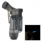 HONEST Windproof Plastic Butane Jet Torch Lighter w/ Cap - Black + Grey