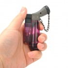 HONEST Windproof Plastic Butane Jet Torch Lighter - Purple + Grey