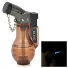 Vase Style Windproof Plastic Butane Jet Torch Lighter with Cap - Transparent Terra Brown