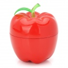 Apple Style Zinc Alloy Cigarette Tobacco Grinder - Red