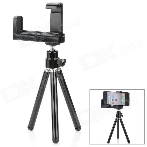 Rotatable Mini Adjustable Retractable ABS Tripod Holder Stand for / Camera / Mobile Phone - BlackTripods and Holders<br>Form  ColorBlackMaterialABSSocketTypeTripod,OthersRetractableNoOther FeaturesAdjustablePacking List<br>