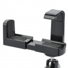Rotatable Mini Adjustable Retractable ABS Tripod Holder Stand for / Camera / Mobile Phone - Black
