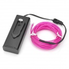 EL-3M Folding Bending 3-Mode Neon Light Cable w/ Battery Case - Purple (3m / 2 x AA)