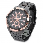 CURREN 8023 Stylish Water Resistant Quartz Wrist Watch - Black + Golden (1 x LR626)