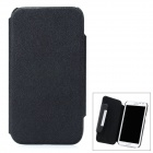 Protective 360 Degree Rotation Flip Open PU Case Cover for Samsung N7100 - Black