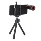 4-in-1 8X Zoom Camera Lens Microscope Set for Iphone 5 - Black