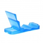 Portable Folding Plastic Stand Holder for Iphone + More - Blue