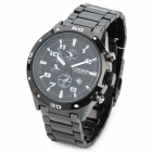 CURREN 8021 Stylish Water Resistant Quartz Wrist Watch - Black (1 x LR626)