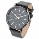 SINOBI 9213 Stylish PU Leather Band Quartz Wrist Watch - Black (1 x LR626)