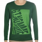 Fashion Man's Cotton Long Sleeve T-shirt - Green
