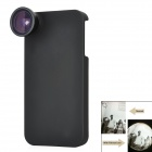 165 Degree Fisheye Lens w/ Protective Bag + Back Case + Cleaning Cloth for iPhone 4/4S - Black