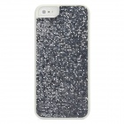 Twinkling Sequin Coating Pattern Protective PC Back Cover Case for Iphone 5 - Silver Grey + White