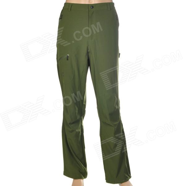 Hasky XQQ-SGK-15 Man's Nylon Lightweight Fast Drying Hiking Trekking Trousers - Dark Olive Green
