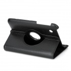 "Universal Protective Swivel Rotating PU Leather Case for 7"" Tablet PCs - Black"