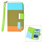Genuine KALAIDENG PU Leather Protective Case Cover w/ Card Slot for Samsung i9300 - Light Olive
