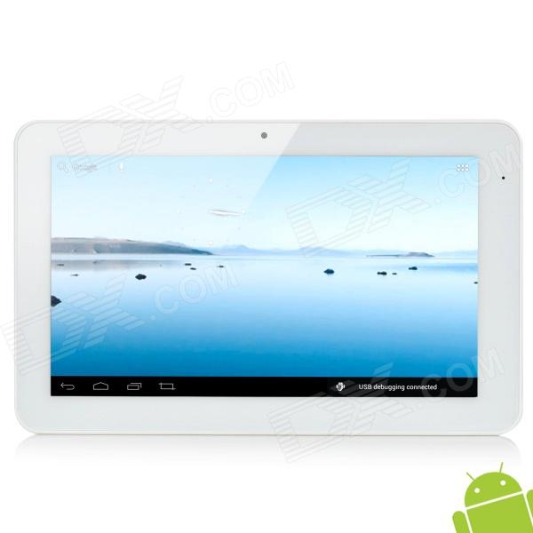 "39C 10.1"" Capacitive Screen Android 4.0 Dual Core Tablet PC w/ TF / Wi-Fi / HDMI / Camera - White"