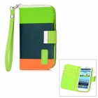 Genuine KALAIDENG PU Leather Protective Case Cover w/ Card Slot for Samsung i9300 - Black + Green