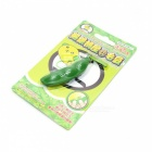 Charming Stress Release Soft Plastic Extrusion Bean Toy w/ Keychain - Green