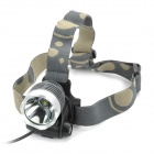 600lm 3-Mode White Light Headlamp - Grey + Silver (1 x 18650)