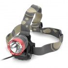 Cree XM-L T6 600lm 3-Mode White Light Headlamp - Grey + Red (1 x 18650)