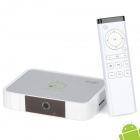 Jesurun J17 Android 4.0 Media Player w/Fly Mouse / Wi-Fi / SD / Built-in 2.0MP Camera - Grey + White