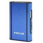 FOCUS JUNLANG Aluminum Alloy + Plastic Automatic Cigarette Case -Blue + Black
