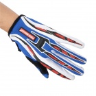 PRO-BIKER CE-01 Full-Fingers Motorcycle Racing Gloves - Blue + Red + White + Black (Pair / Size L)