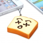 Emulational Toast Bread Style Pendant with Strap