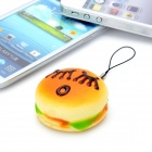Emulational Hamburger Style Sponge Pendant with Strap