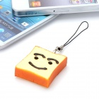 Simulated Toast Style Mobile Phone Pendant - Yellow + Brown