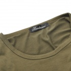 Fashion Man's Cotton Long Sleeve T-shirt - Dark Olive Green