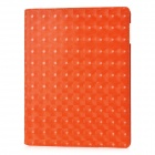Water Cube Style 360 Degree Rotation Protective PU Leather Case with Stand for Ipad 2 / New Ipad