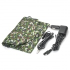 12V 7W Solar Power Panel Auto Car Battery Charger - Camouflage Green