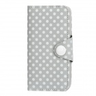 DK-03 Polka Dot Protective PU Leder Flip-Open Case w / 2 Card Slots für iPhone 5 - Grey