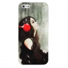 Hotsion I5-01 Protective Beautiful Girl Pattern Plastic Back Case for Iphone 5 - Multi-Color