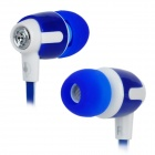 Senmai SM-E1018 Stilvolle Wohnung In-Ear-Ohrhörer w / Clip - Blue + White (3,5 mm Klinkenstecker / 120cm)