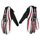 PRO-BIKER CE-01 Full-Fingers Motorcycle Racing Gloves - Black + White (Pair / Size L)