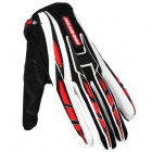 PRO-BIKER CE-01 Full-Fingers Motorcycle Racing Gloves - Black + White (Pair / Size XL)