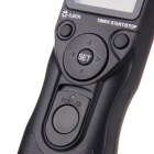 JYC MC-C1 1.2'' LCD Digital Timer Remote Control for Canon 1000D / 550D / 500D - Black (2 x AAA)