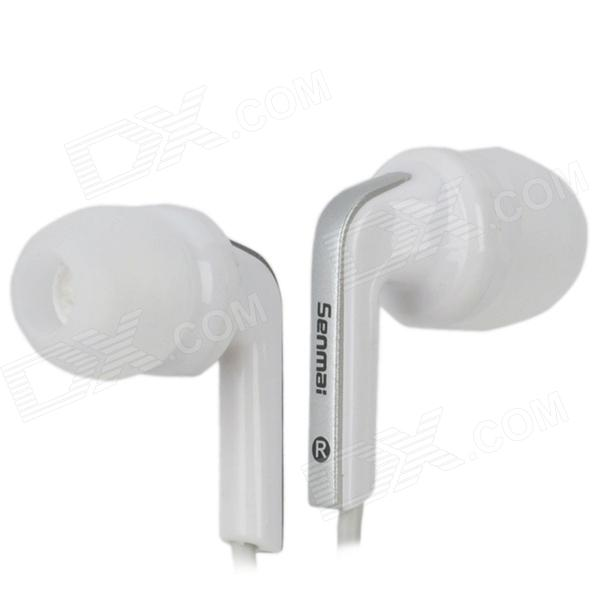 Senmai S33SP Stylish Stereo In-Ear Earphones - White (3.5mm Plug / 120cm)