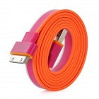 Flache USB-Ladekabel / Datenübertragungskabel für iPad / iPhone 4 / 4S - Indian Red (100cm)