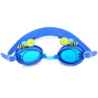 MYSTYLE Cute Cartoon Bee Style Anti-Fog Silicone PC Lens Swimming Goggles Glasses for Kids - Blue