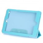Folding Protective PU Leather Case for Ipad MINI - Blue