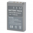 "BLS-5 Replacement 7.2V ""1150mAh"" Li-Poly Battery for Olympus EPL2 / EPL3 / EP3 - Grey"