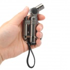Windproof Stainless Steel Butane Jet Torch Lighter with Cap - Coffee
