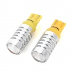 SENCART T10 5W 300lm CREE XP-E Yellow Light Car Clearance Lamp - Silver (12~24V / 2 PCS)