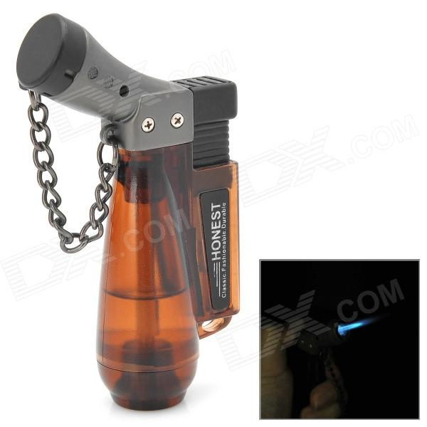 Windproof Plastic Butane Jet Torch Lighter with Cap - Brown шины 215 55 r13