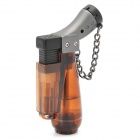 Windproof Plastic Butane Jet Torch Lighter with Cap - Brown
